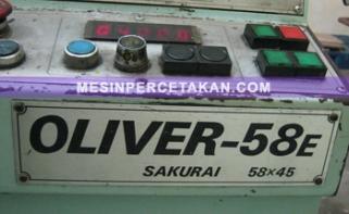 Oliver 58E panel