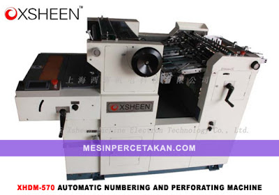 Automatic Numbering And Perforating Machine | XSHEEN XHDM 570